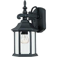 2961-BK Outdoor Wall Lantern, Black Cast Iron