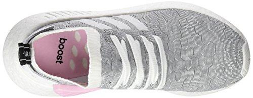 adidas Damen NMD_R2 Primeknit Sneaker, Weiß Footwear White/core Black, 37 1/3 EU
