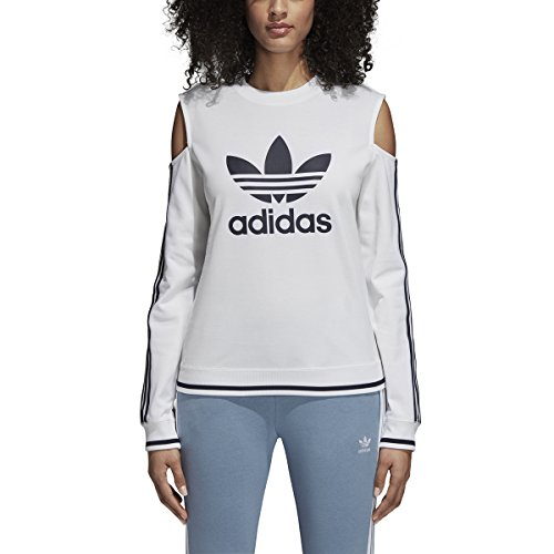 Adidas Women Originals Cutout Sweater (M, White)