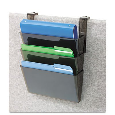 (Three-Pocket File Partition Set with Brackets, Letter, Smoke)