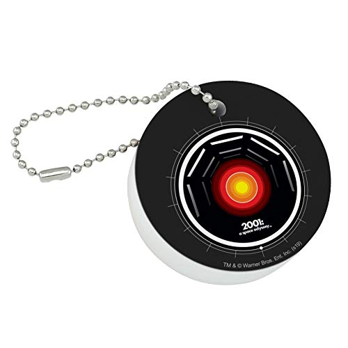 Graphics and More 2001: A Space Odyssey Hal Round Floating Foam Fishing Boat Buoy Key Float Keychain