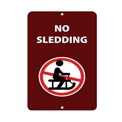 12x16 inch No Sledding Activity Sign Park Signs Park Prohibition Sign Street Sign Aluminum Metal Sign for Wall Decor (No Sledding Signs)