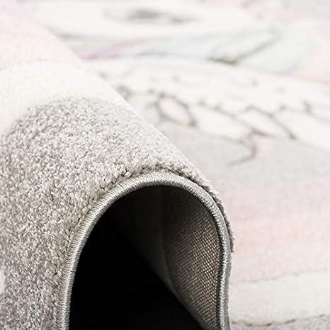 Pastel Grey Light Pink Children Carpet Unicorn 5 Sizes Pergamon Maui Kids