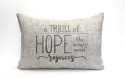 A thrill of hope Pillowcase Cover Throw Cushion Cover oh holy night christmas Pillowcase Cover Throw Cushion Cover christmas decorfarmhouse christmas decor a thrill of hope by Pillow Cover
