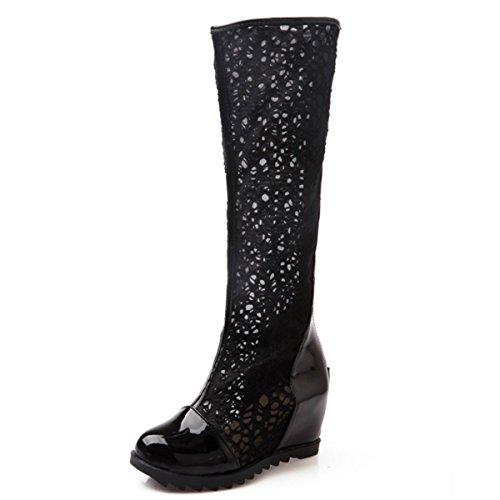 Fanessy Femme Sandales Escarpins d été Automne à Talon compensé Femme  Chaussure Romaine en Lace c1ad13a76b4e