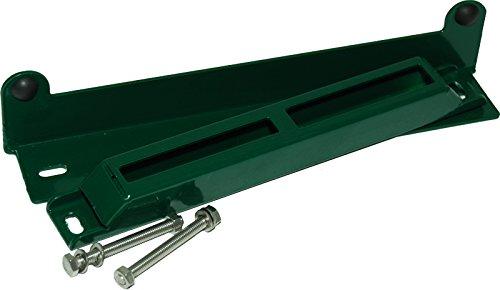 Anschlagwinkel 2 teilig f/ür Tore oder T/üren aus Metall Toranschlag RAL 6005