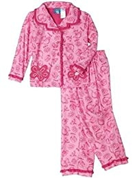 DR. SEUSS Girl's 3T Toddler Pink Flannel Fish Coat Pajama Pants Set