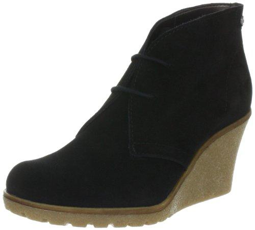 ESPRIT Kiwi Lace Wedge G10365 - Zapatos de ante para mujer Negro