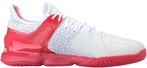 low priced 99ca5 e61a9 ... Mens Adidas Performance Adizero Ubersonic Scarpa Da Tennis 2 Bianco    Nero   Ray Tessuto Rosso
