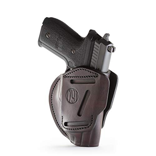 1791 GUNLEATHER 3-Way SIG P226 & P229 Holster - OWB CCW Holster Ambidextrous - Right or Left Handed Leather Gun Holster - Fits Sig Sauer P226, Sig P229, P220, P320c, P239 (Signature Brown)