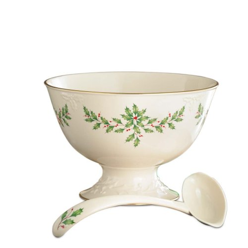Lenox Holiday Punch Bowl with Ladle