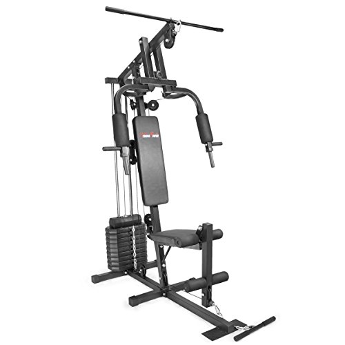 XtremepowerUS Multifunction Home Gym Fitness Station Workout Machine, w/100 Lbs Weight