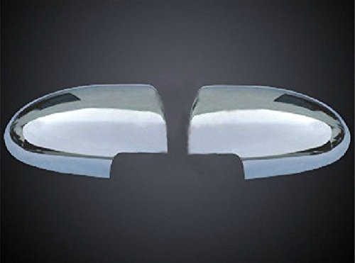 Amooca Full Chrome exterior Rearview Mirror housing Trim Molding Covers Kit For 2006-2010 Hyundai Accent 2pcs