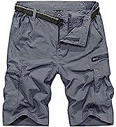Jessie Kidden Men's Cargo Hiking Shorts Elasticated Waist Quick Dry Lightweight Outdoor Summer Wa...
