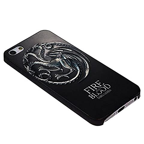 Game of thrones house targaryen For iPhone Case (iPhone 6S black) (Beatles Phone Case 5c)