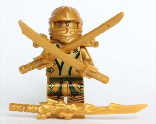 LEGO-Ninjago-The-GOLD-Ninja-with-3-Weapons