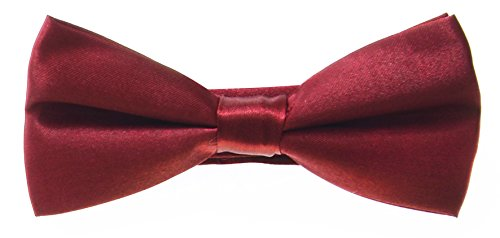 COLOURS Red NEW 35 COLOURED FREE TIES PLAIN FASHION WEDDING AVAILABLE PRE BOW POSTAGE TIED Deep 66p0n