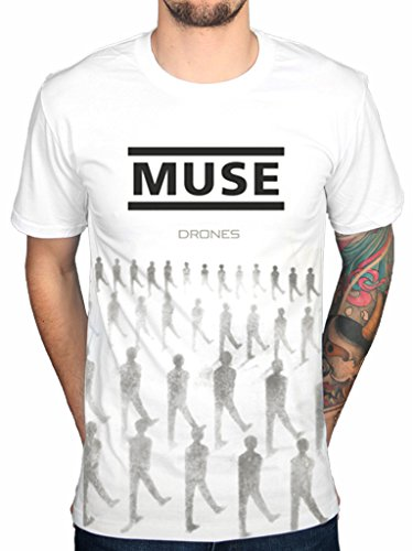 Muse Rock Band (AWDIP Men's Official Muse Drones T-Shirt Band Absolution Rock 2nd Law Origin Symmetry)