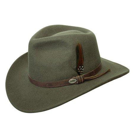 Conner Hats Men's Aussie Wool Crusher Hat, Loden Green, L ()