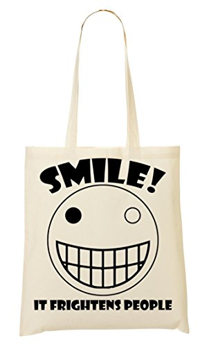 Smile It Frightens Bolso De Mano Bolsa De La Compra