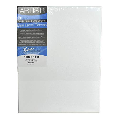 (Fredrix 5606 Ultra Smooth Stretched Canvas, 14 by 18-Inch)