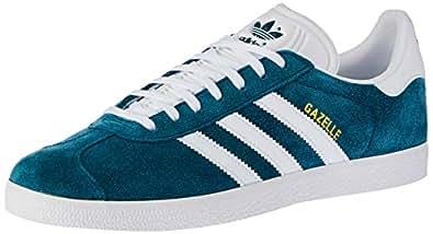 adidas, Gazelle Trainers , Unisex Shoes,Blue Petrol Night/White/White, 8.5 US Men / 9.5 Women