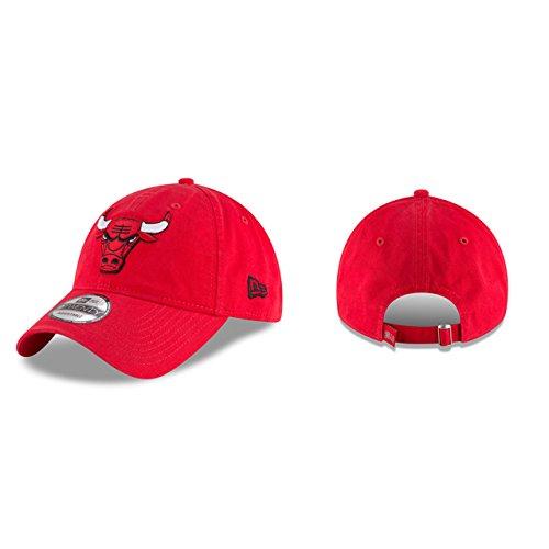 New Era NBA Chicago Bulls Core Classic 9Twenty Adjustable Cap, Red, One (Red Bull New Era)