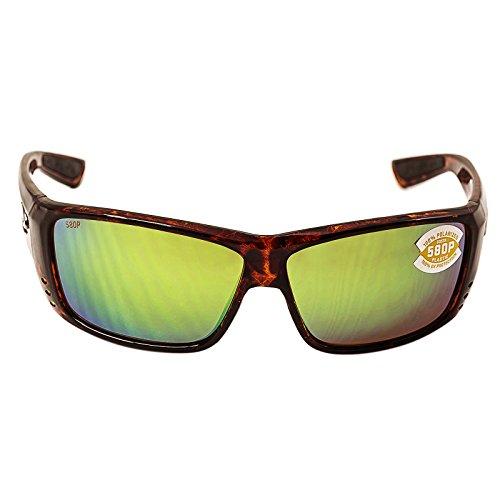 Costa Del Mar Cat Cay Sunglasses, Tortoise, Green Mirror 580 Plastic - Sunglass Costa World By
