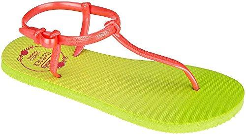 Waimea Zehenslipper Sandale Damen Gelb/Grün