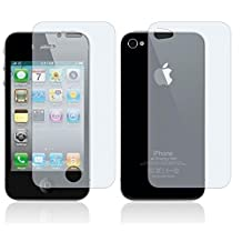 Fosmon 3-Pack of Apple iPhone 4 Screen Protectors (Full Screen | Front and Back)