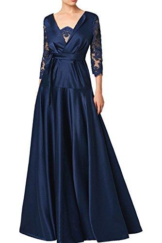 Ivydressing Partykleider Ausschnitt A Aermel mit Grau Abendkleider V Bodenlang langer Promkleider Vintage Ballkleider Damen Spitze Linie rUgq0ra