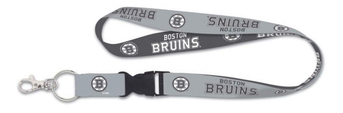 Boston Bruins Premium Lanyard Key Chain Charcoal Edition