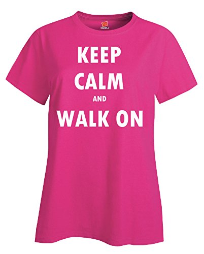 Keep Calm And Walk On - Ladies' T-shirt Wow_pink XL
