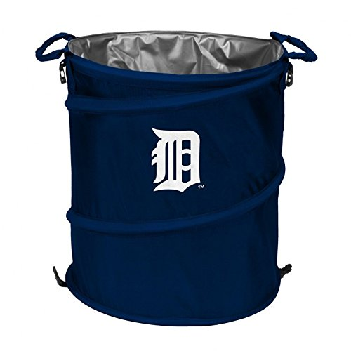 Logo Collapsible Cooler Bag, Detroit Tigers 3-in-1 Outdoor Collapsible Trash Can ()