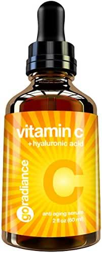 Best Vitamin C Serum for Face 2017. DOUBLE the Size of All Other Vitamin C Serums. Contains 20% Vitamin C, Pure Vegan 5% Hyaluronic Acid & Organic Jojoba Oil. Huge 2 oz Naturals Plant Based Serum