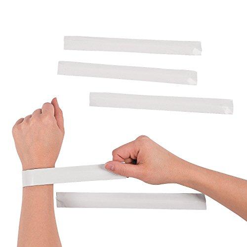 DIY Blank Slap Bracelets (set of 24) Color Your Own Craft Kits for Kids