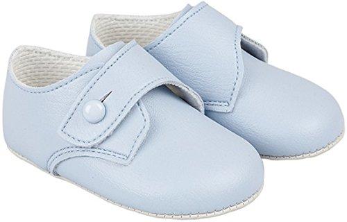 "Baby Boy Shoes Soft Soled Matte Leather Blue Size 1M,2M,3M,4M Infant (4M (9-12 Months:4.5""))"