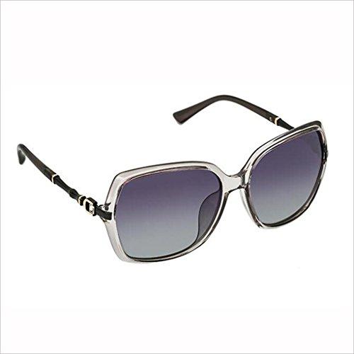 de Gafas 5 Palabra Gafas 4 HOME de Conducir Rhinestone Sección QZ polarizada Color Sol Colorido Moda bambú Luz Marco Mujer Gran D wzU51Oq