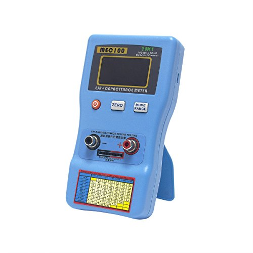 Signstek 2 in 1 Digital Auto-ranging ESR + Capacitance Meter 0-470Ω ERS 0μF-470mF Rechargeable Capacitance Tester and Internal Resistance Tester with SMD Test Clips and USB Cable by Signstek (Image #7)