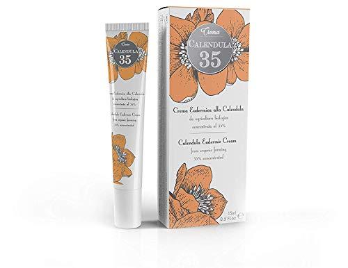 Dulàc - Calendula 35 - hautfreundliche Creme - AM MEISTEN KONZENTRIERT - speziell für Verbrennungen, Verbrühungen, Erythem, Psoriasis und Hautpflege - mit Panthenol und Vitamin F - 15 ml