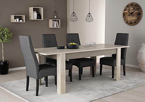 Mesa Extensible salón Comedor Color Roble Champagne 170-230 cm ...