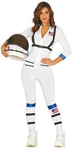 Mujer Blanco Sexy Astronauta Espacio Americano Disfraz Completo M ...