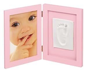My Sweet Memories 34122002 - Marco doble para foto y huella de pie, color rosa