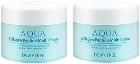 [DEWYTREE] (2 pieces) Aqua Collagen Peptide Multi Cream 1.69Fl Oz, x 2ea / Made In Korea