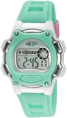 American Design Machine Jr. Kids' ADSG 5002 MNT Madison Digital Display Japanese Quartz Green Watch