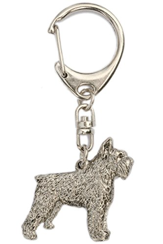 Bouvier Des Flandres (Cropped Ears) Made in U.K Artistic Style Dog Key Ring Collection