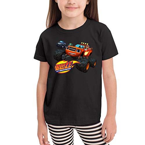 Rusuanjun Blaze and The Monster Machines Children's T-Shirt Black 4T Fun and Cute]()