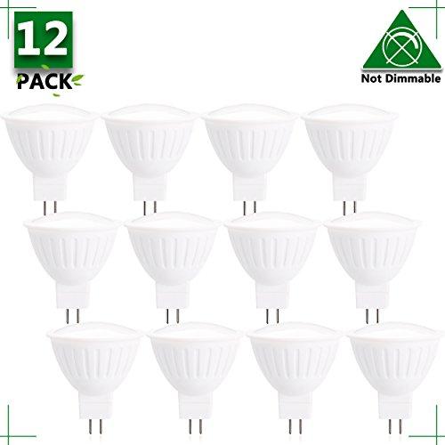 Spotlight Indoor Lighting MR16 12V 5W LED Bulbs Warm White 2700K LED Spotlights -45Watt Equivalent - 500 Lumen High Power Lamp 30 Degree Beam Angle for Landscape Recessed Track Lighting(12-Pack)