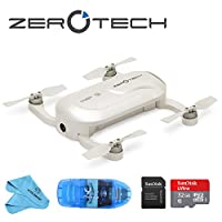 """ZEROTECH Dobby Mini Selfie Pocket Drone, 4K 13MP Camera, 1/3.06"""" CMOS Sensor, Including 32GB SD Card, SD Card Reader and Cleaning Cloth"""