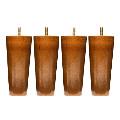 Ez Lift Hanger (Sofa Legs Set Of 4, 5 Inch Round Replacement Solid Wood Furniture Leg Extenders for Sofa, Couch and Chair)